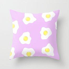 Pink eggs Throw Pillow