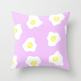 Pink eggs Throw Pillow