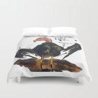 turkey Duvet Covers featuring Turkey Vulture by Mt Zion Press