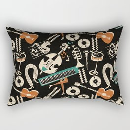 Jazz Rhythm (negative) Rectangular Pillow