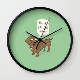 Immature Dachshund Wall Clock