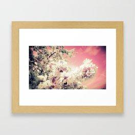 Pink Lavender Flowers Framed Art Print