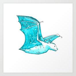 Starry Bat Art Print