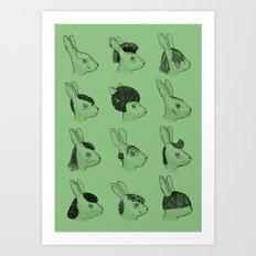 Hare Styles Art Print