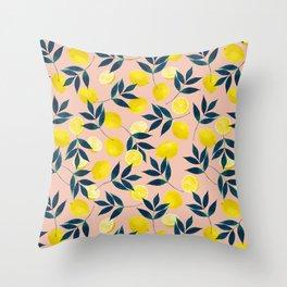 Lemony Goodness Throw Pillow