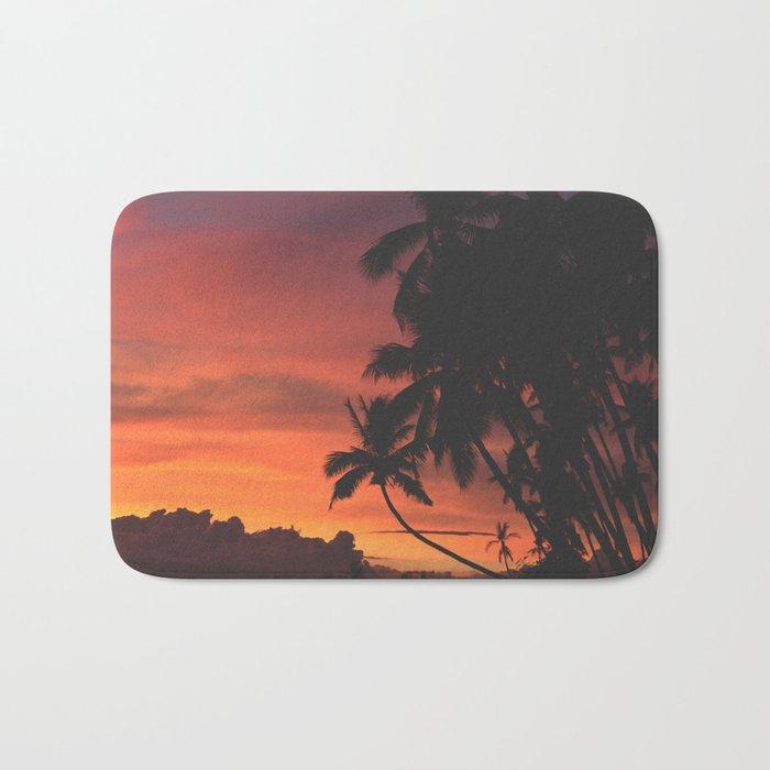 Hawaii Palm Trees Sunset Bath Mat