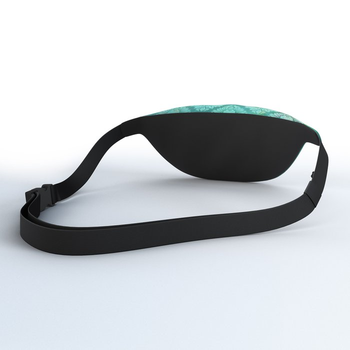 """""""Turquoise Ocean Damask Pattern"""" Fanny Pack"""