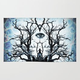 Tree of Life Archetype Religious Symmetry Rug