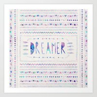 dreamer Art Prints featuring DREAMER by Bianca Green