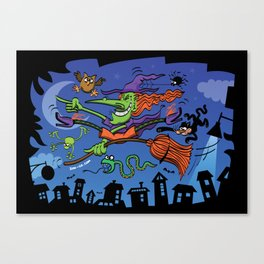 Crazy Witch Canvas Print
