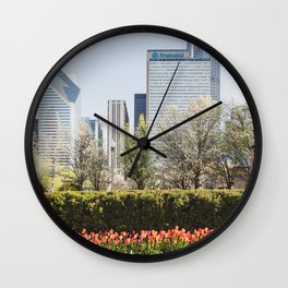 Chicago in Spring Wall Clock