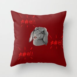Foulmouth Throw Pillow