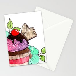 Cherry on top Stationery Cards