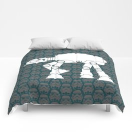 AT-AT  and Stormtroopers On Dark Teal Comforters