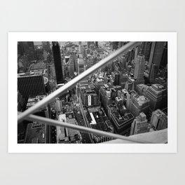 Manhattan from Above, 2018 Art Print
