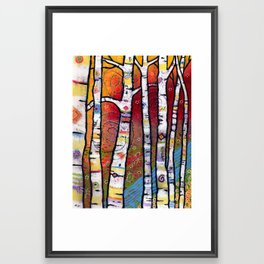 Enchanted Magical Forest - The Trees Sing to the River Framed Art Print