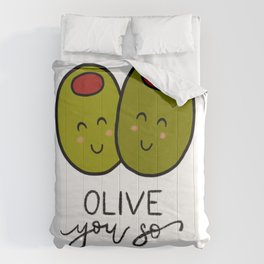Olive You So Much! Comforters
