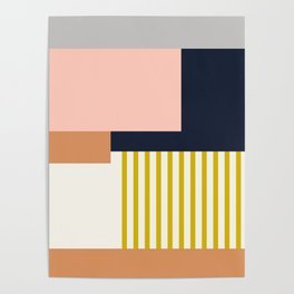 Sol Abstract Geometric Print in Multi Poster