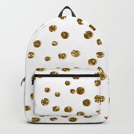Gold Glitter Confetti Backpack