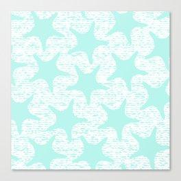 turquoise starfish pattern Canvas Print