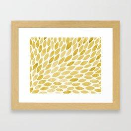 Watercolor brush strokes burst - yellow Framed Art Print