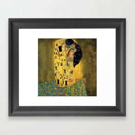 Curly version of The Kiss by Klimt Framed Art Print