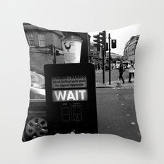 Pedestrians Wait Throw Pillow