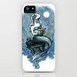 Bookish Mermaid W  iPhone Case