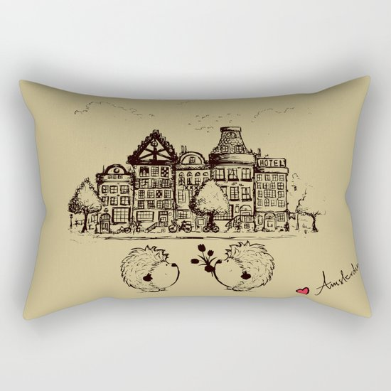 Hedgehogs in Amsterdam Rectangular Pillow
