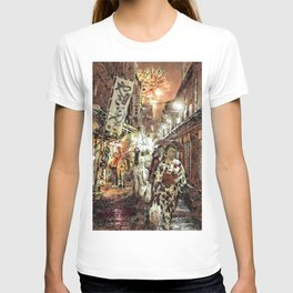 The night in Japanese town  T-shirt