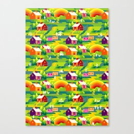 Technicolor Suburbs Canvas Print