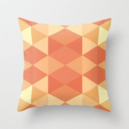 Triangles in Shades of Orange Throw Pillow