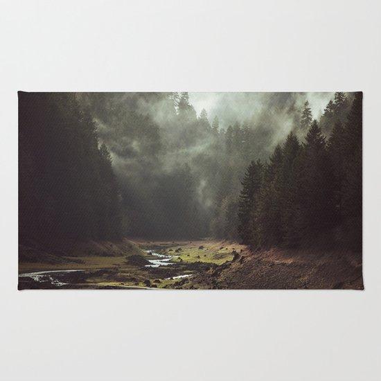 Foggy Forest Creek Rug