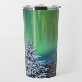 Northern Lights, Algonquin Park Travel Mug