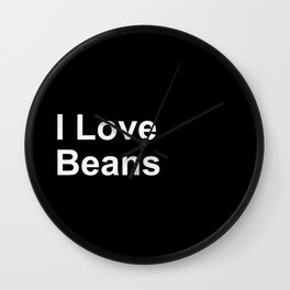 I Love beans Wall Clock