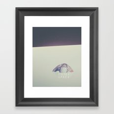 Dying in outer space Framed Art Print