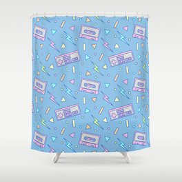 80s Video Games and Mix Tapes Shower Curtain