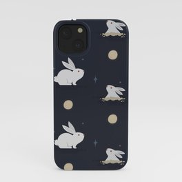 Bunnies on the Moon (Patterns Please) iPhone Case