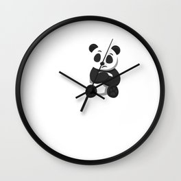 People Suck Funny Panda Bear Wildlife Introvert Anti Social Sleepy Lazy Animals Gift Wall Clock