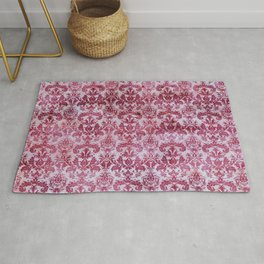 Vintage Antique Pink-Magenta Wallpaper Pattern Rug
