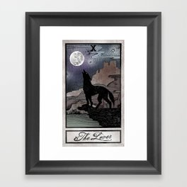 The Lover Tarot Framed Art Print
