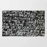 calligraphy Area & Throw Rugs featuring calligraphy by nihal ekinci