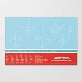 America aviation Canvas Print