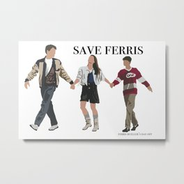 Save ferris Metal Print