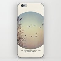 birds iPhone & iPod Skins featuring Caged Birds by Tina Crespo