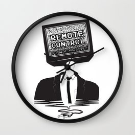 Remote Control: Kill Your TV - Fake News Wall Clock
