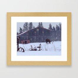 Hatfield Farms in Winter Framed Art Print