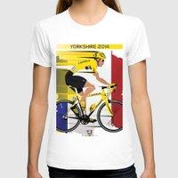 tour de france T-shirts featuring Grand Depart Yorkshire Tour De France  by Wyatt Design