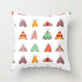 Moths Throw Pillow