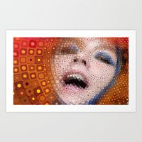 bjork Art Prints featuring Bjork by Artstiles